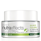 NutraEffects Active Seed Complex Balance Night Gel Cream Oil-Free