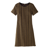 Jacquard Knit Shift Dress