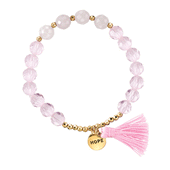 Pink Hope Rose Quartz Beaded Bracelet