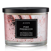 Pink Prosecco Candle