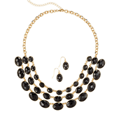 Sparkling Statements Necklace and Earring Set