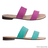 Double Strap Faux Suede Slide