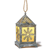 Snowflake Lantern Ornament with Lights