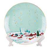 2019 Collectible Plate with 14K Gold Accents