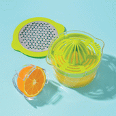 Citrus Juicer with Measuring Cup and Grater