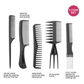 5 Piece Comb Set