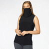 Sleeveless Top with Built-In Face Mask