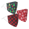 3 Pack Holiday Fashion Fabric Mask with Filter Pocket
