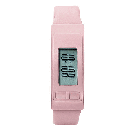 Pink Pedometer Watch