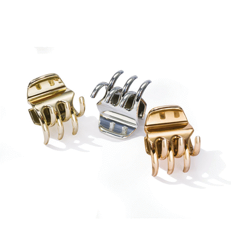 Metallic Claw Clips (Set of 3)