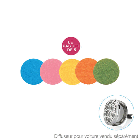 Car Diffuser Pad Refills (pack of 5)
