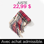 PWP PLAID SCARF $22.99