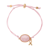 Bracelet coulissant Quartz Rose