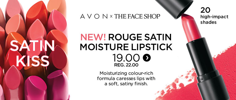Avon x the face shop. New! Rouge satin moisture lipstick