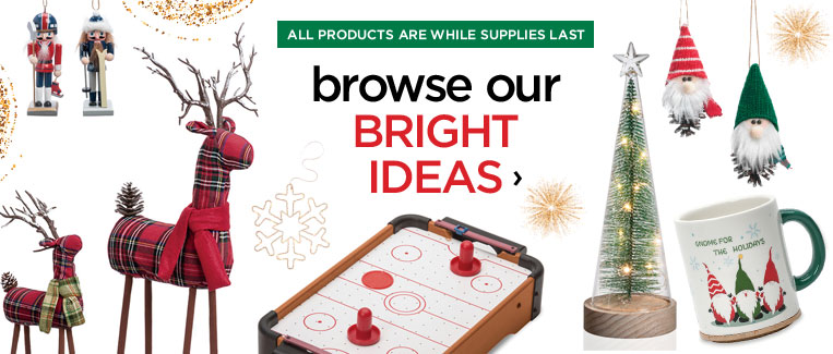 Browse our bright ideas flyer. All products are while supplies last.