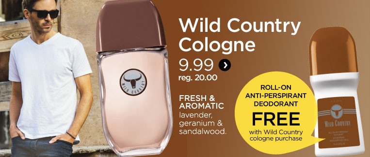 Wild country cologne (free roll-on anti-perspirant deodorant)