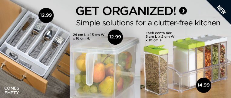 Get organized! Simple solutions for a clutter-free kitchen.