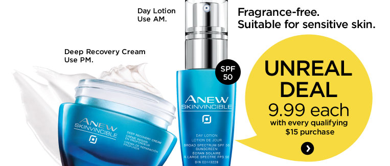 Anew skinvincible day lotion and deep recovery cream