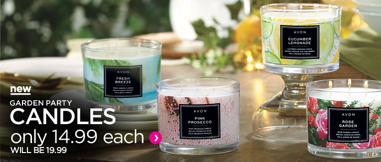 New! Garden party candles