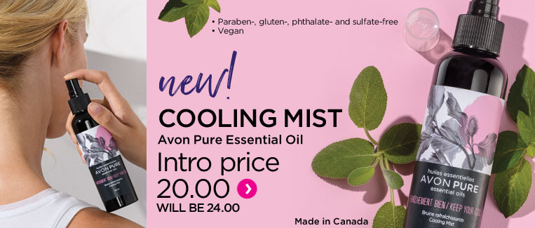 New avon pure keep your cool essential oil cooling mist
